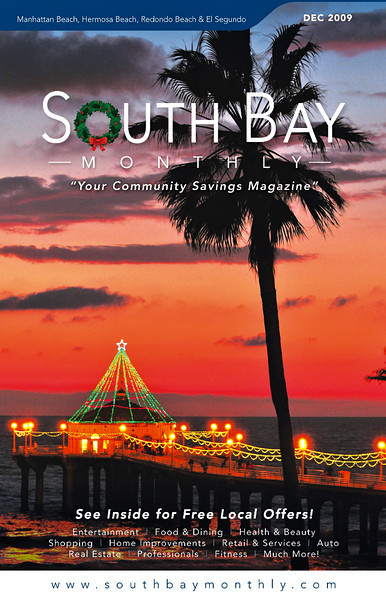 """Front Cover of """"South Bay Monthly Magazine"""", December 2009."""