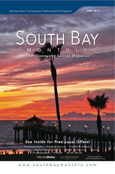 """Front Cover of """"South Bay Monthly Magazine"""", 2cd week of January 2011."""