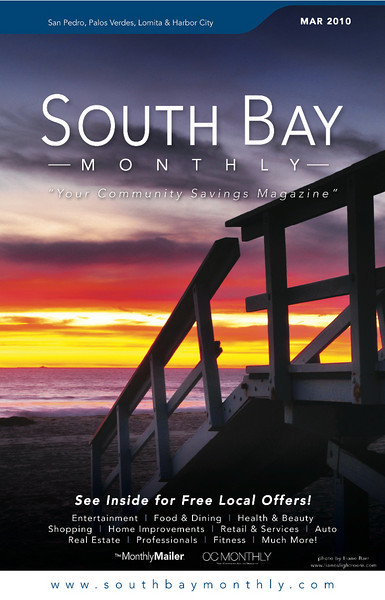 "Front Cover of ""South Bay Monthly Magazine"", March 2010 (San Pedro, Palos Verdes area)."