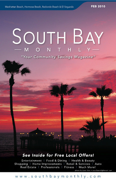 """Front Cover of """"South Bay Monthly Magazine"""", 1st week of February, 2010."""