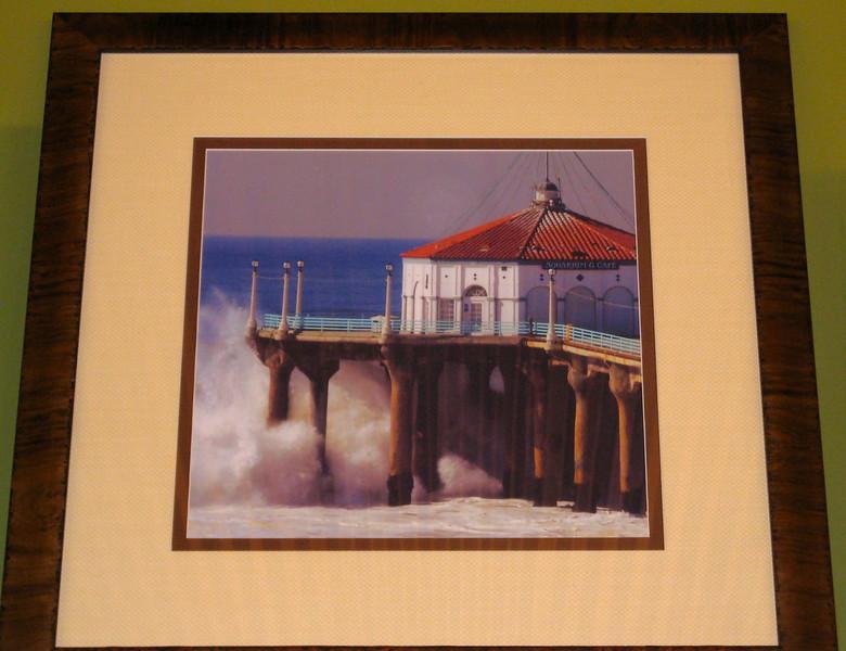 Artwork on display at Aaron Brothers, Manhattan Beach CA. (Manhattan Beach Pier photo)