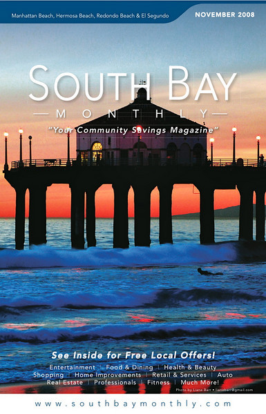 """Front Cover of """"South Bay Monthly Magazine"""", November 2008."""