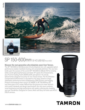 Commercial surfing photoshoot for Tamron Lenses USA.