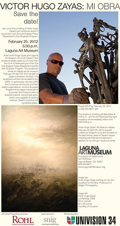 Invitation to opening night at the Laguna Art Museum.