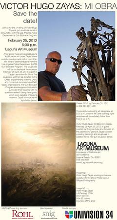Invitation to opening night at the Laguna Art Museum.