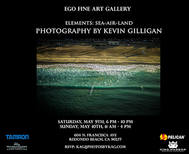 """On May 9-10, 2015, I held a solo photography exhibit at the Ego Fine Art Gallery in Redondo Beach CA, """"Elements: Sea-Air-Land."""""""