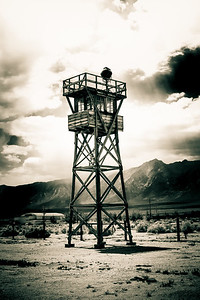 "Manzanar, Guard Tower. Part of the ""Deliberations"" exhibit, May 2017"