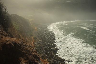 Palos Verdes Cove - This misty landscape was taken at the Palos Verdes Cove just after sunrise.