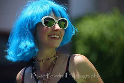 Blue hair Summer Solstice