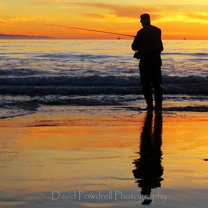 Fisherman at Carpinteria State Beach