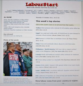 """""""LabourStart"""".org  10/22/12"""