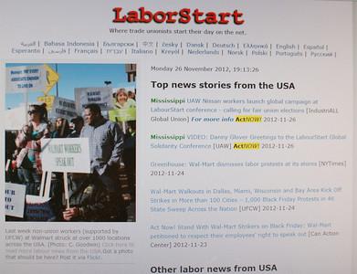 LabourStart.org  11/26/12 & LabourStart 2014 Calendar
