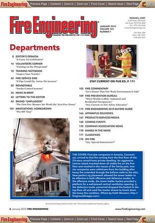 Fire Engineering Magazine (PAGE 6) January 2010