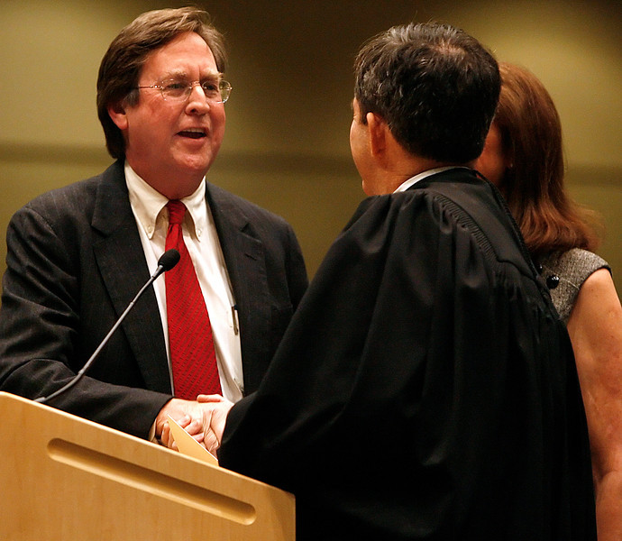 Dewey Bartlett takes the oath of office Monday afternoon at the Inauguration ceremony to become Tulsa newest mayor.
