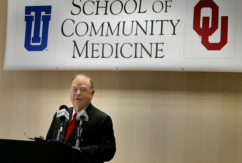 University of Oklahoma President David Boren announced at a press conference at Tulsa University the two universities intention to create a four-year community medal education program in on the Tulsa University campus.