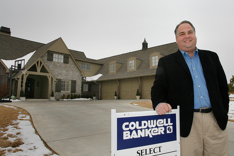 Pete Galbraith, President Elect of Greater Association of Realtor, outside his Jenks home.