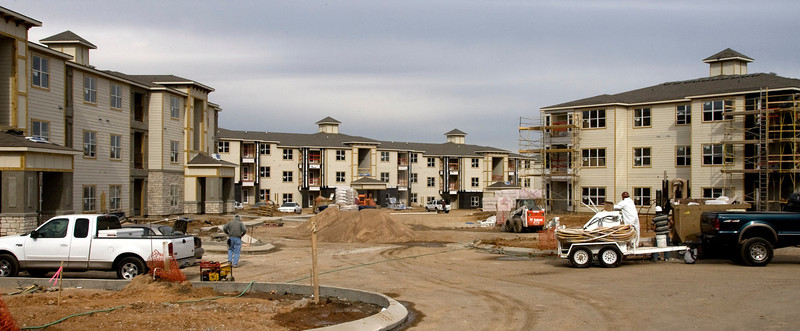 Construction Continues on the Sanoma Grande luxury apartment complex in South Tulsa.