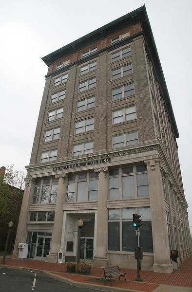 The Historic Manhattan Building in downtown Muskogee. The structure was built in 1912 and stands 8 stories tall.