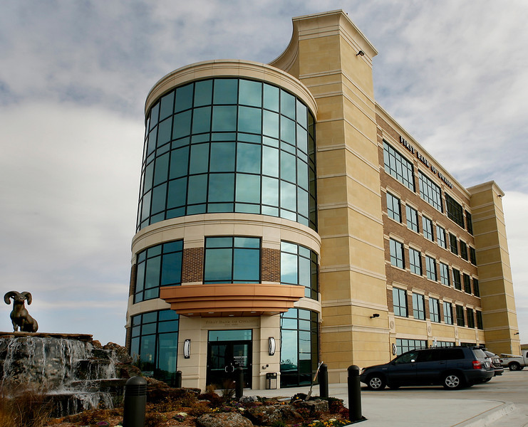 The recently completed First Owasso Bank Building.