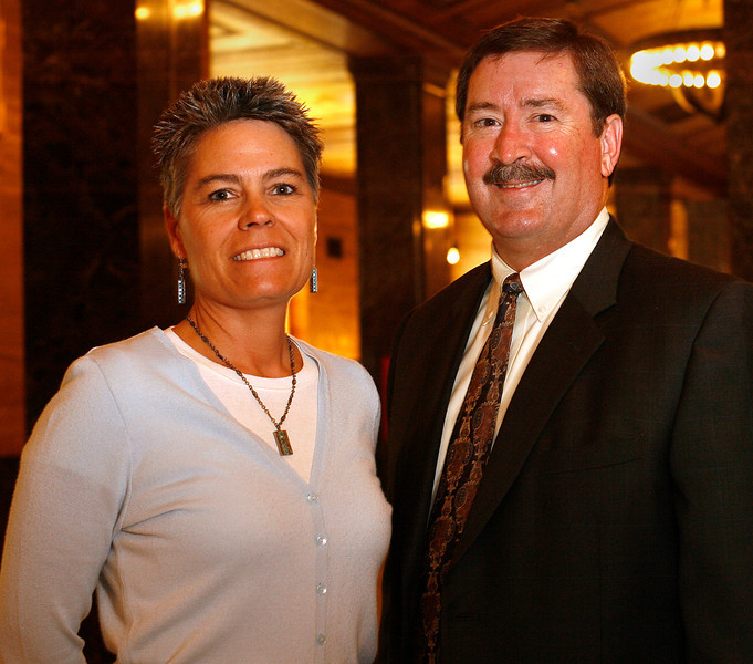 Director of Business Development Lari Gulley and Attorney Richard Edmonson of Tulsaís Hall Estill Law Firm.