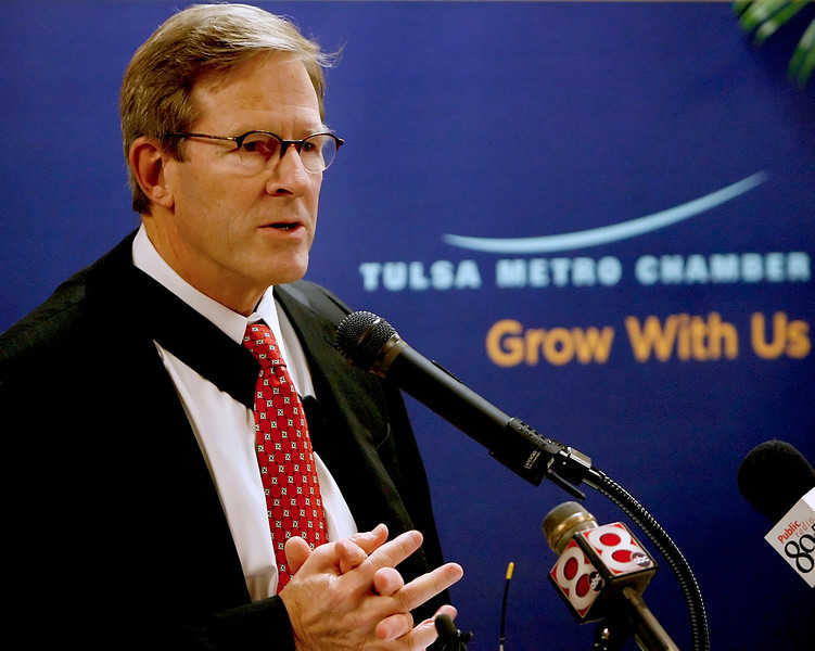 David Page, Chairman of the Tulsa Metro Chamber, announces its position on three proposed city of Tulsa charter changes to appear on the Nov. 10th ballot.