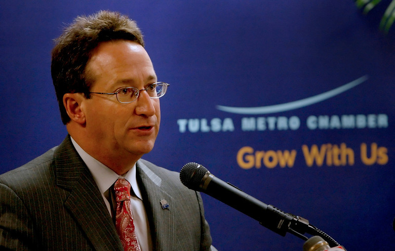 Mike Neal, CEO and President of the Tulsa Metro Chamber, announces the chambers position on three proposed city of Tulsa charter changes to appear on the Nov. 10th ballot.
