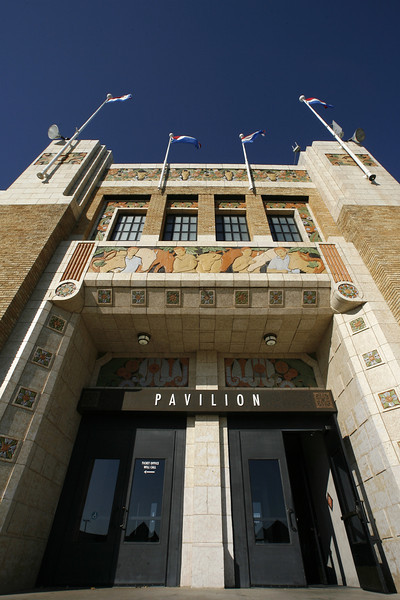 An entry way to the Pavilion on the Tulsa County Fairgrounds.