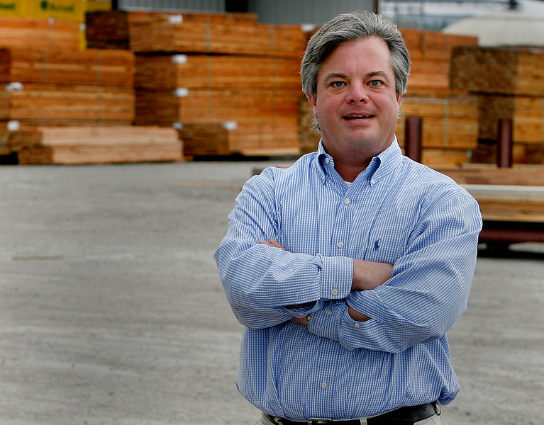 Robert L. Hughes, owner of Hughes Lumber, in the Tulsa Port of Catoosa.