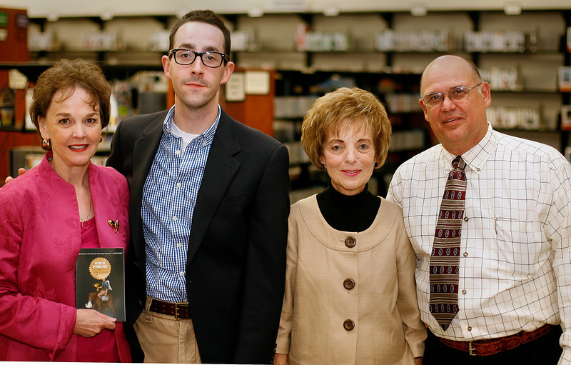 Authors Teresa Miller, Jeff Martin, Helen Hardwick and Tim Tingle at the 2009 Chapters meeting held Friday at the Hardesty library in South Tulsa.