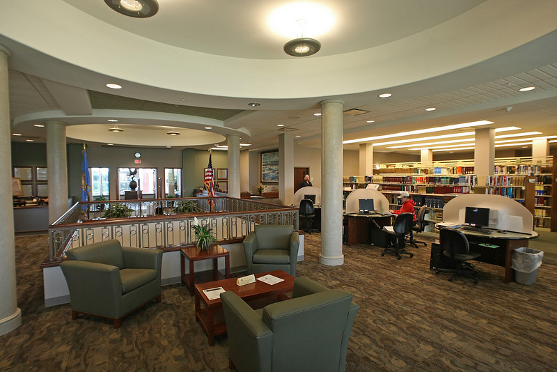 The second floor of the library on the NEO Broken Arrow campus.