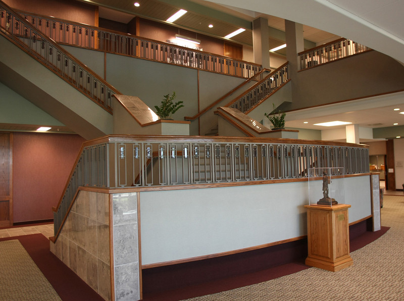 Stairways in the Student Center of the North Eastern Oklahoma  at Broken Arrow campus.