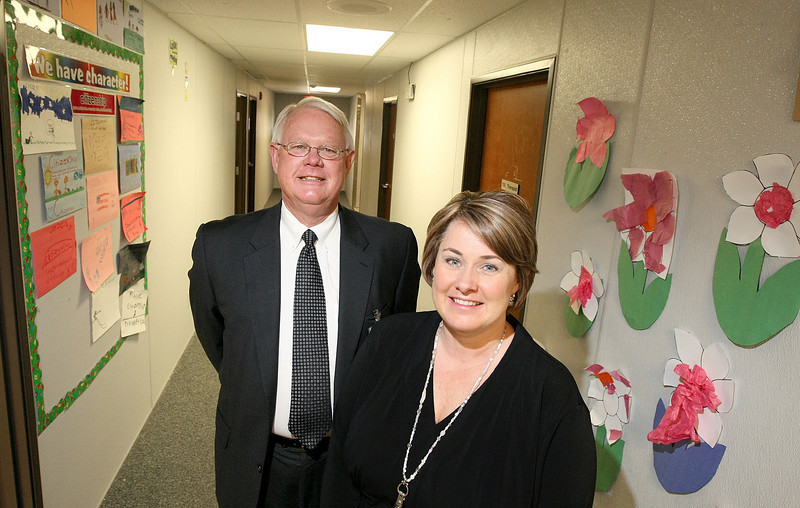Cedar Ridge CEO John Holter and Cedar Ridge School Principal Danette Hall. PHOTO BY MAIKE SABOLICH