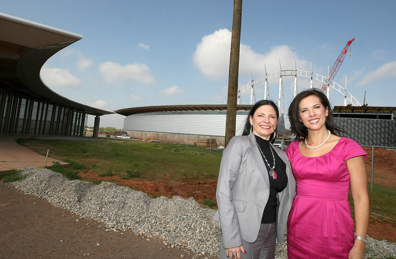 Shoshana Wasserman, director of marketing and public relations for the American Indian Cultural Center & Museum, and Gena Timberman, executive director of the Native American Cultural & Educational Authority. PHOTO BY MAIKE SABOLICH