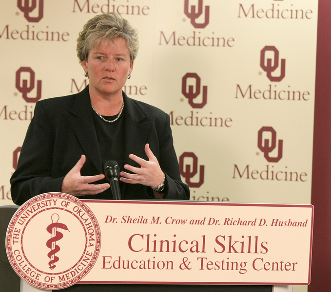 Dr. Rhonda Sparks, medical director of Oklahoma University Health Sciences Clinical Skills Education and Testing Center. PHOTO BY MAIKE SABOLICH