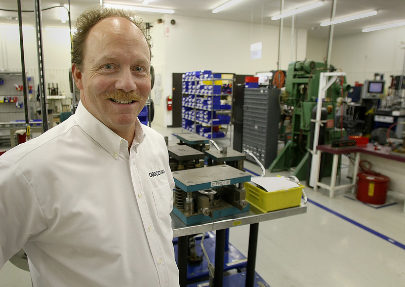 Bryan Sanderlin, President OSECO Inc in Broken Arrow, in the production area of the business.