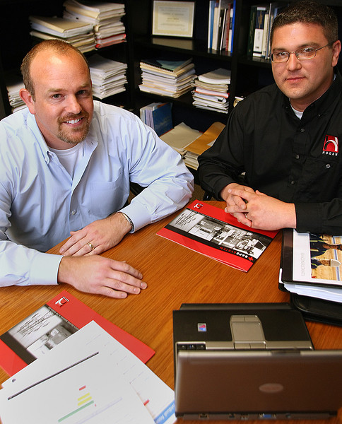 Mike Wilkinson, Manager of Infrastructure and Jeff Forster, Ph. D, director of Research & Development with Hogan in Tulsa.