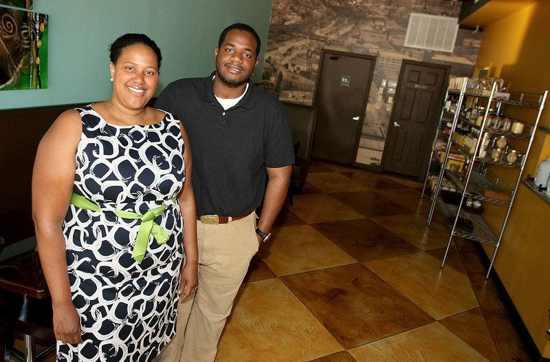 Charifa and Kevin Smith, owners of Sage. On May 1, Sage opens a lounge for jazz music. PHOTO BY MAIKE SABOLICH