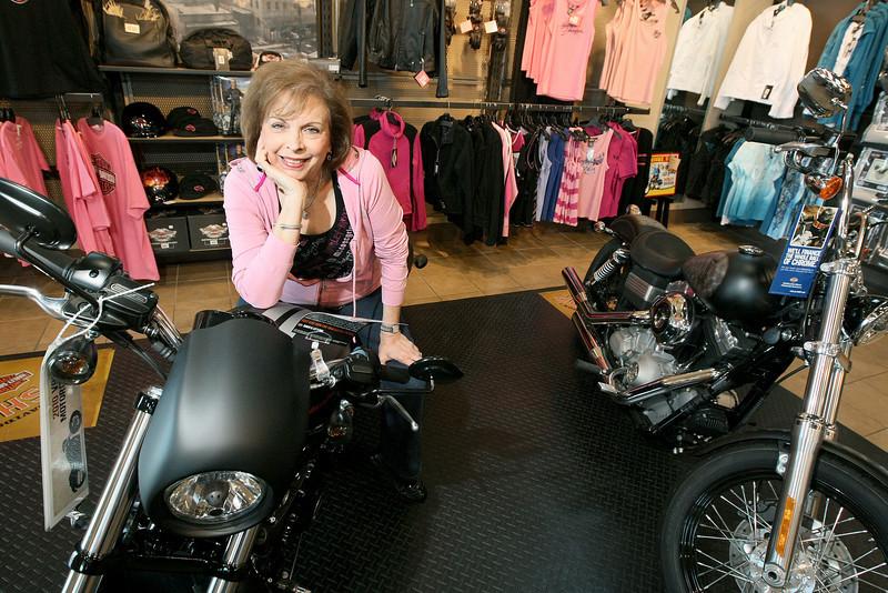 Sara Newman, manager at Harley-Davidson World in Northwest Oklahoma City. PHOTO BY MAIKE SABOLICH