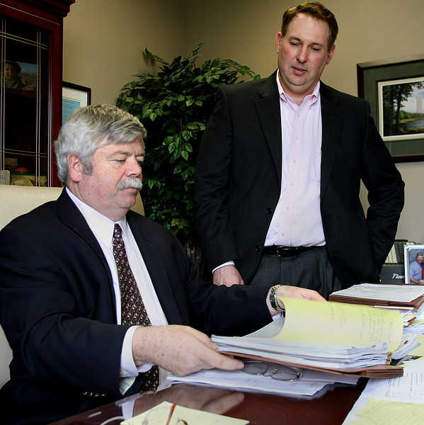 Managing Partner of HoganTaylor Bob Vaught and Tom Smith, SALT Practice Leader in their Mid-town Tulsa office.