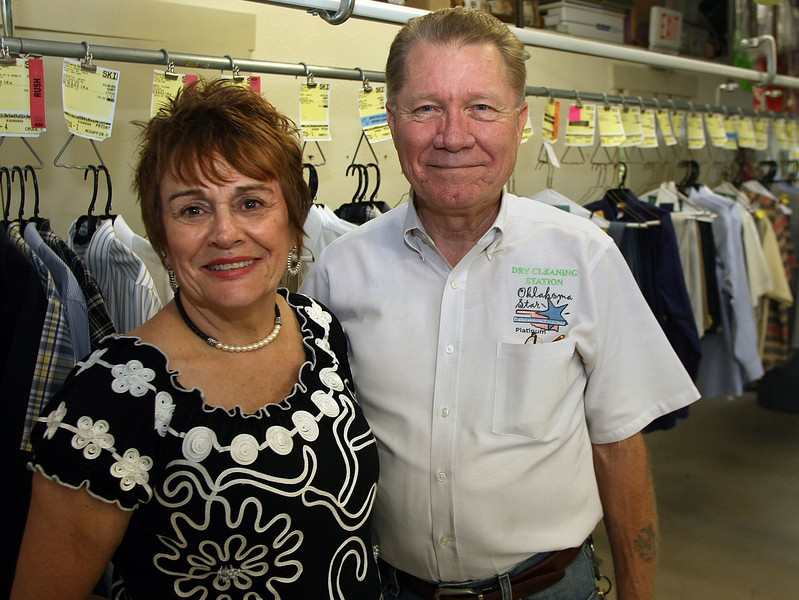 Barbara and Tom Keenze, Co-Owners of the Dry Cleaning Station in Owasso.