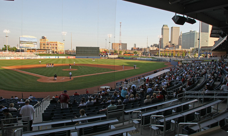A high school baseball game at OneOk Field.