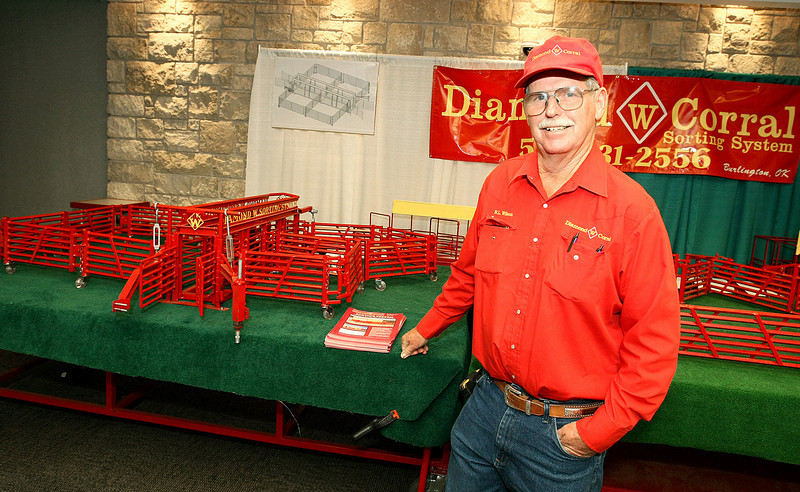 Diamond  Corral Manager R.L. Wilson with miniature models of the corrals at the Reed Convention Center. PHOTO BY MAIKE SABOLICH
