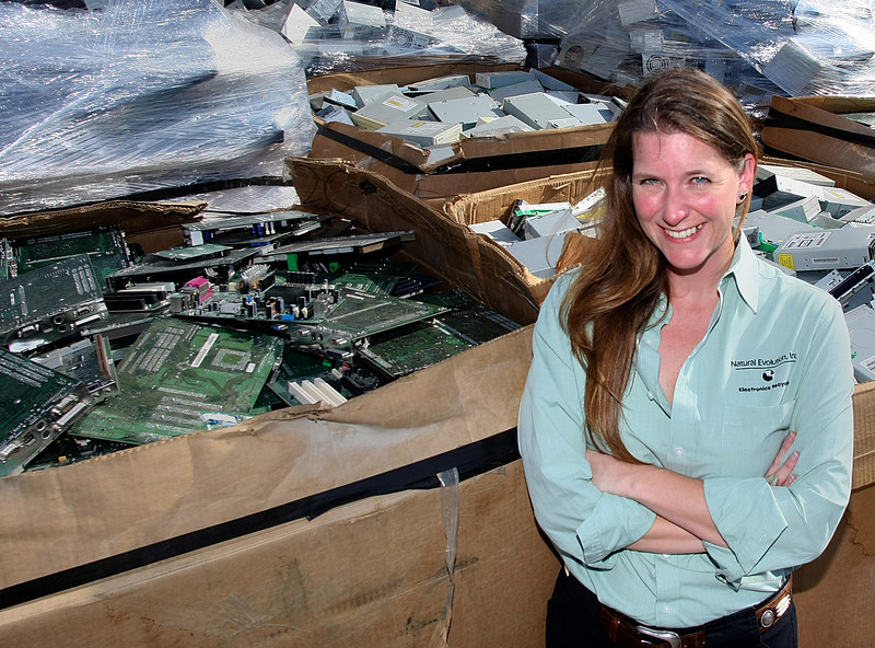 Traci Phillips of Natural Evolution recyclers in Tulsa.