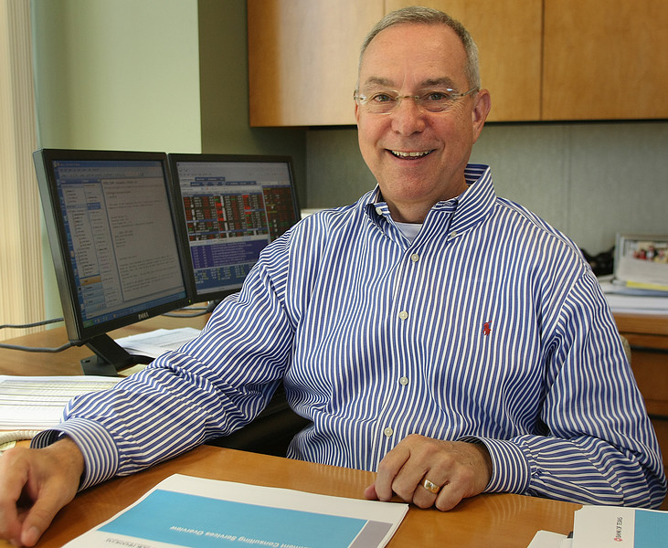 Jim Huntzinger, Executive VP and Chief Investment Officer for BOK Financial, at his office in Tulsa.