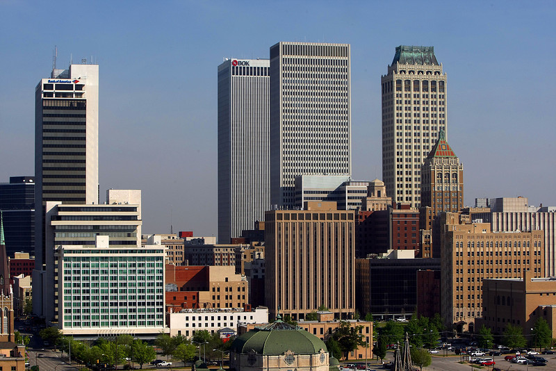 The Downtown Tulsa Skyline.