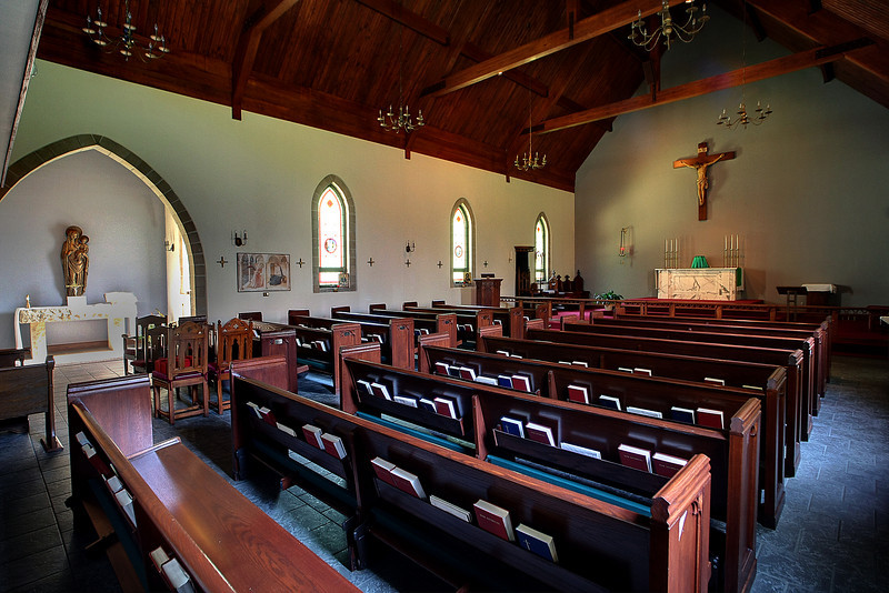 The sanctuary of the All Saints Anglican Church in South Tulsa.