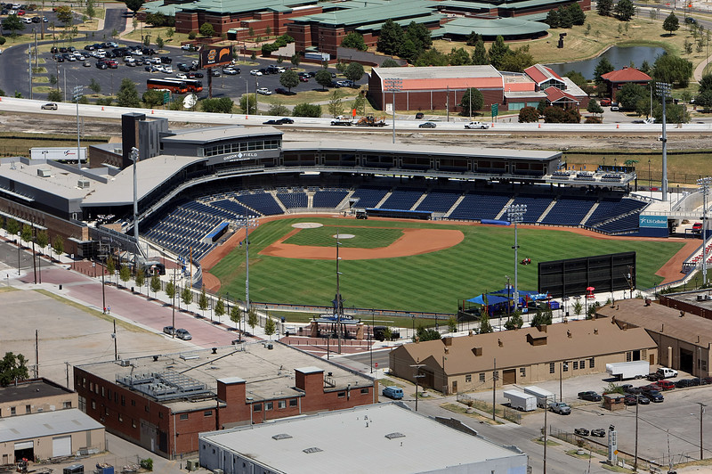 The OneOk Baseball field and surrounding property in downtown Tulsa.