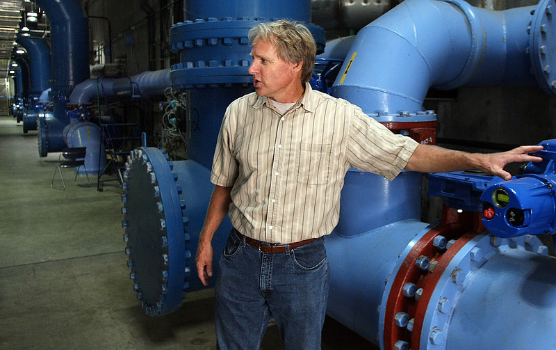 Bob Brownwood the Water Supply Manager of the Mowhawk Water Treatment plant in Tulsa.