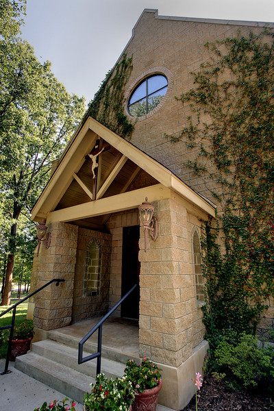 The entrance to the sanctuary at the All Saints Anglican Church in South Tulsa.