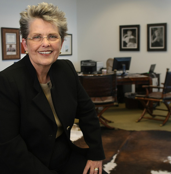 Pam McKissick, President and CEO of Williams & Williams Real Estate Auctions in her Tulsa office.